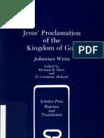 1892 - Johannes Weiss - Jesus' Proclamation of the Kingdom of God