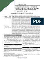 evaluarea factorilor de risc implicati în aparitia leziunilor iatrogene biliare
