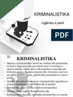 Kriminalistika