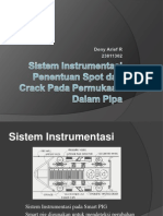 Sistem Instrumentasi Penentuan Spot dan Crack Pada Permukaan