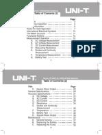 Multimeter UNI-T Model UT33B-C-D