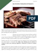 Carne rossa provoca tumori e arteriosclerosi