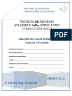 3384 Segunda Prueba de Avance Ciencias Naturales Segundo Ano de Bachillerato Praem 2012pdf