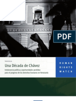 Human Rights Watch - Una década de Chávez