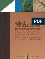 Analisis de Suelo Agua Planta y Nutricion en SE Peninsular
