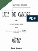 Luís de Camões, notas biográficas, por Camilo Castelo Branco