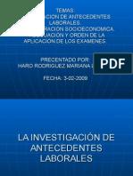 Antecedentes Laborales y Admanistración Socioeconomica - Mariana