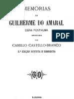 Memórias de Guilherme do Amaral, por Camilo Castelo Branco
