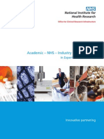 Academic-NHS-Industry Collaboration in Experimental Medicine