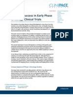 Ensuring Success in Early Phase Oncology Clinical Trials