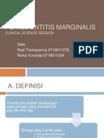 Periodontitis Marginalis