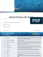 ODZ_Optical Design With Zemax 6 Advanced Handling