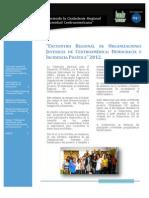 Boletin Encuentro Regional Juventud CA - FUNDE Y NED