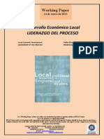 Desarrollo Económico Local. LIDERAZGO DEL PROCESO (Es) Local Economic Development. LEADERSHIP OF THE PROCESS (Es) Tokiko Ekonomi Garapena. PROZESUAREN LIDERGOA (Es)