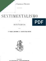 Sentimentalismo e História, por Camilo Castelo Branco