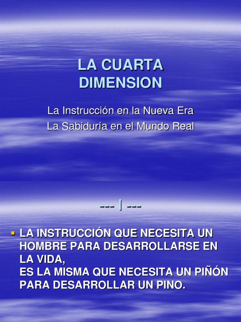 La Cuarta Dimension - Power Point 3