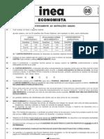 Cesgranrio 2008 Inea Rj Economista Prova