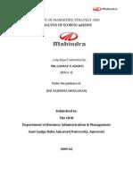 36919491 a Study of Marketing Strategy and Analysis of Scorpio Mhawk