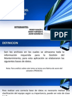 MANTENIMIENTO BASE DE DATOS