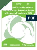 Alcohol, Tabaco, Drogas Edo Mex Enestudiantes_2009