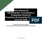 Guia Perfil Proyectos Inversion Publica Peru