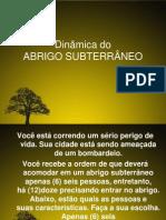 Dinâmica do ABRIGO subterrâneo