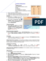 EXCEL Estadística bidimiensional