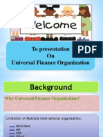 New concept of Banking System  (UFO)