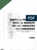Cartilla Practica para el manejo de los Asfaltos Colombianos