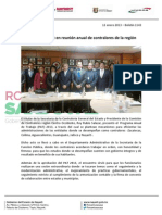 12-01-13 Boletin 1143 Destaca Nayarit en reunión anual de contralores de la región