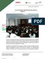 12-01-13 Boletin 1145 Capacita Gobierno de la Gente a adolescentes para evitar la Violencia