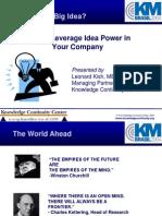 KM Brazil 2004 Keynote - Harnessing Idea Power