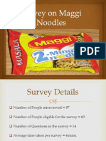 Survey on Maggi Noodles