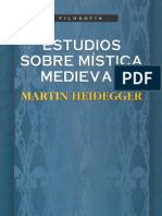 Estudios sobre mística medieval. Heidegger