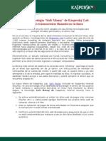 """La nueva tecnología """"Safe Money"""" de Kaspersky Lab protege las transacciones financieras en línea"""