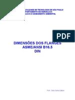 DIMENSIONAMENTO DE FLANGES (ANSI)
