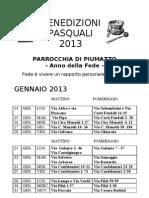 Benedizioni Pasquali 2013