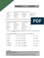 Fracciones algebraicas con soluciones