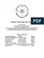 Bowie 2013 Scholarship Form