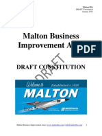 Malton BIA DRAFT Constitution - January 2013