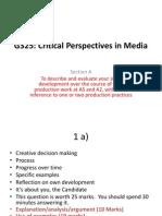 A2 Critical Evaluation Section 1 a) Creativity