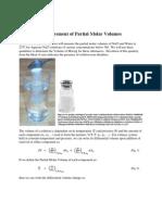 measurement of partial molar volume