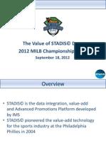 STADIS Data from 2012 MiLB Championship Game