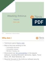 Attacking Anti Viruses 1