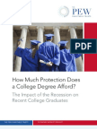 Does a College Degree Afford Protection?