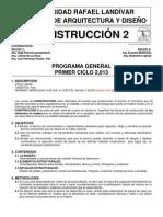 Programa General 1er. Ciclo 2013 Alumnos