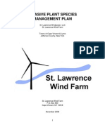 St. Lawrence Wind Deis Invasive Plant Species
