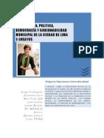 """Tres Ensayos Revocatoria y Politica """"Jorge Yeshayahu Gonzales Lara New York, US José Carlos  Luque Brazan Df,MEXICO Arturo  Quispe Lázaro Lima, PERU"""