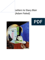 """""""Three Letters to Stacy Blair (Adam Fieled)"""""""