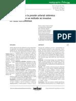 Confiabilidad de La Presionarterial Sistemica Determinada Por Un Metodo No Invasivo en Ratas Normotensas